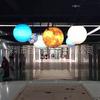 百诺科技馆悬吊太阳系八大行星模型 电动旋转发光太阳系行星模型