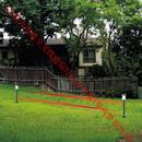 4光束太阳能全无线庭院灯红外光墙(单向警界光束)
