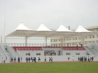 大学院校体育场主席台膜结构雨棚