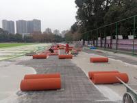 学校运动球场跑道橡胶预制型跑道安全绿色环保符合国家检测标准