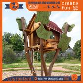 廠家定制動物造型滑梯組合 木質仿生攀爬 創意木質仿生類滑梯