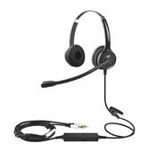 貝恩CS12-PC雙插頭雙耳電腦話務電話耳機