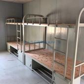 顺德高低学生铁架床工厂员工宿舍铁艺床定制组合公寓床角铁床