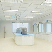 PCR实验室装修洁净工程实验室水电集中供气系统 通风净化系统工程