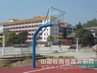 供应埋地固定三节钢化透明玻璃篮球架