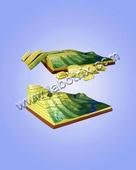教学模型-地质构造模型-等高线模型