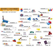 国际田联少儿趣味田径成套软式器材  中学系列(标准型)器材配置清单