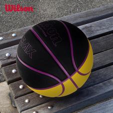 威尔胜(Wilson)篮球炫彩街头7号PU耐磨吸湿室内外训练比赛蓝球 WTB6690IB07CN