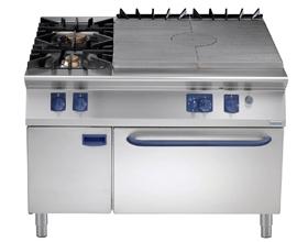 燃气热板炉连双头炉及下燃气焗炉