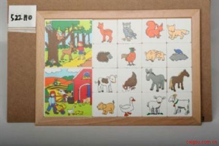 卡片分类游戏动物系列-野生与农场动物