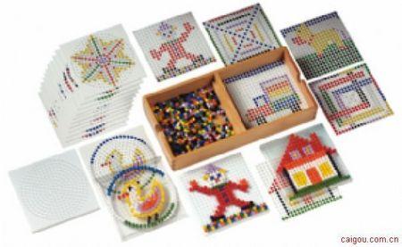 创意胶珠拼图套装-圆形游戏