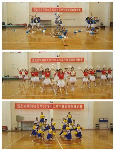 西北农林大学:大学生舞蹈啦啦操比赛举行