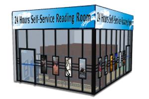24小時自助閱覽室