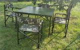 便攜式鋼桌 野戰餐桌 戶外餐桌 可折疊鋼制餐桌(尺寸可定制)
