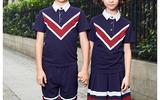 夏季英伦风学生短袖校服运动服套装定制