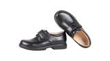 HTS康任中小學生校園鞋黑色牛皮鞋HTS07-1防滑舒適