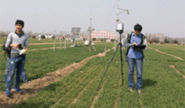 中科院地理所与安洲科技合作开展作物高光谱研究