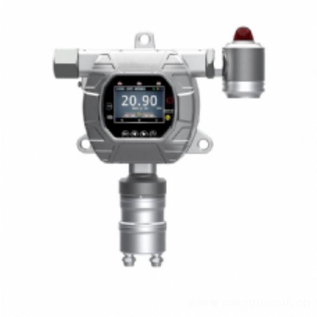 固定在线式硅烷检测报警器采用2.5寸高清彩屏实时显示