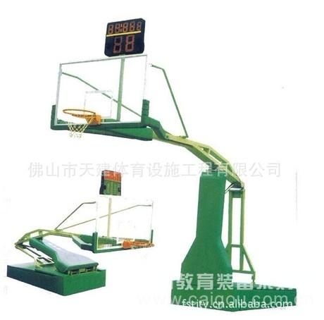 供应 手动液压式移动钢化玻璃篮球架