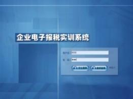 企业电子报税实训系统
