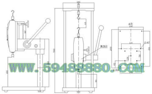 手压式拉压测试架 型号:UJN01/HST-J
