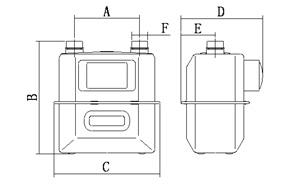 燃气表   型号;HAD-G4