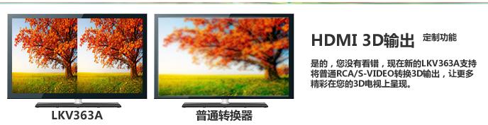 朗强AV/S端子转HDMI视频转换器