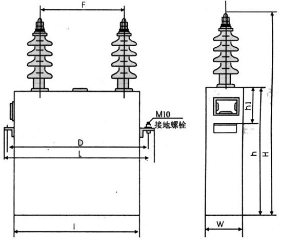 高压并联电容器BWF BFM BAM BFF BGF 系列     型号;BFM10.5-12-1W