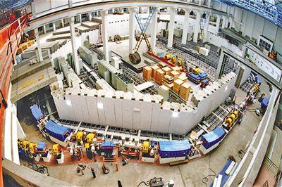 兰州重离子加速器。资料照片