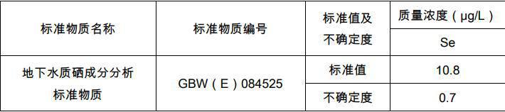 GBW(E)084525 地下水质硒成分分析标准物质 60 mL/瓶 地下水质控样品 环境化学分析标准物质